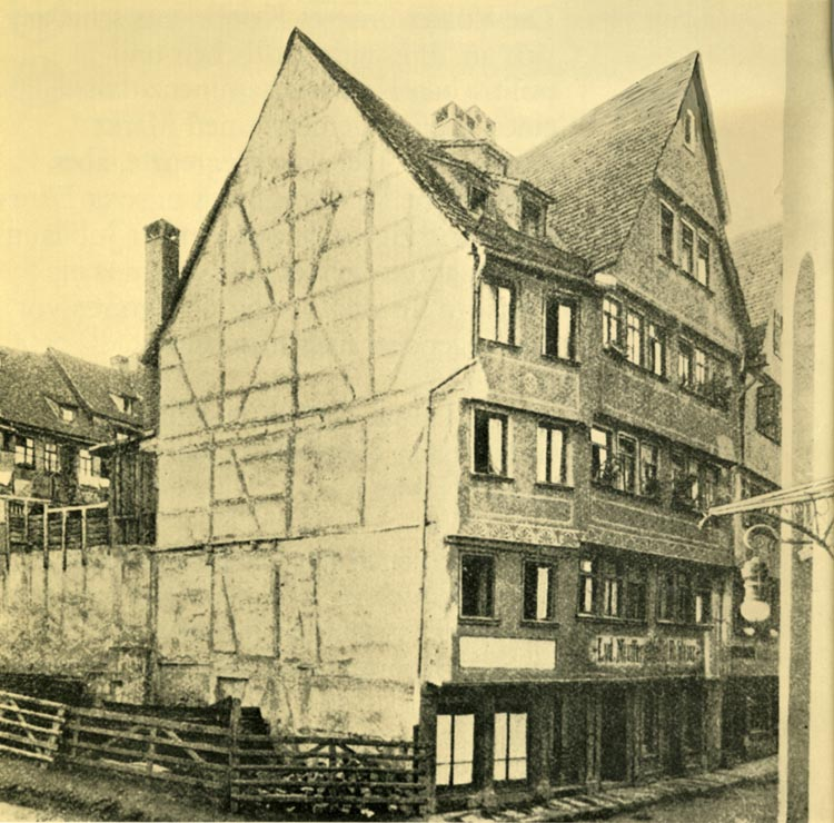 Original location on Becherstrasse