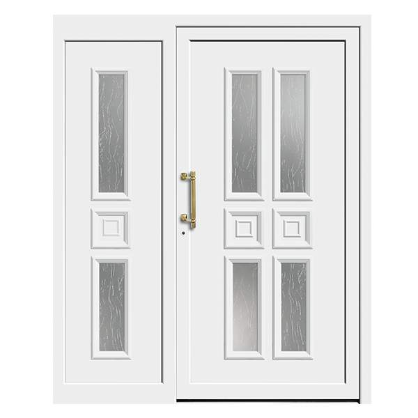 Front Door with Sidelight white