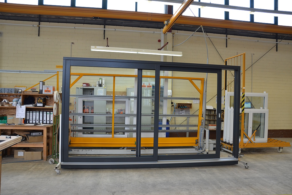 Sliding doors at the factory