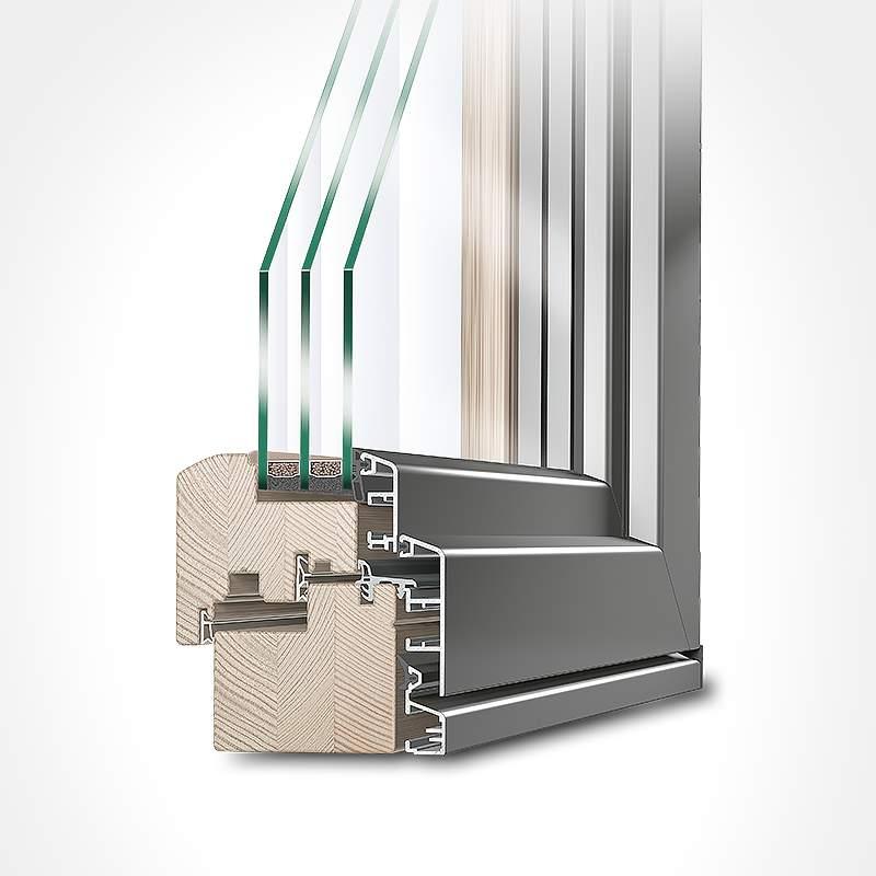 Aluclad Wood Energy Saving Window