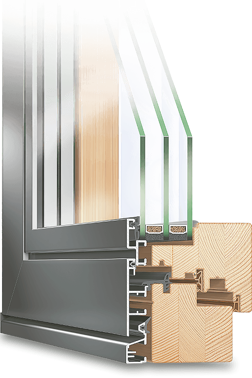 The PLANO Aluminum Clad Wood Window